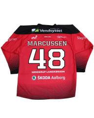 Spillertrøje med navn og nummer #48 Marcussen